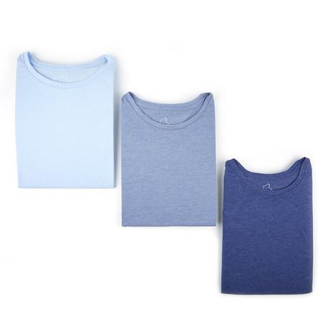Crewneck Tees // Shades of Blue // Set of 3 (L)