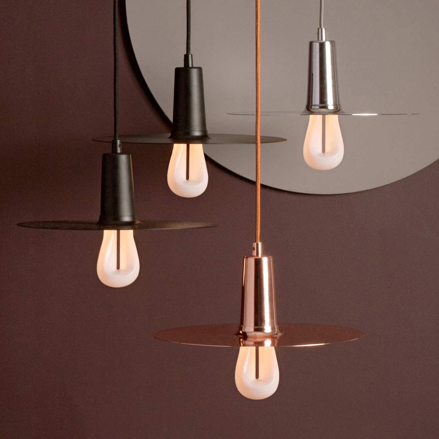 Drop Hat Lamp Light Bulb Copper Original Plumen 002 Cfl Plumen Touch Of Modern