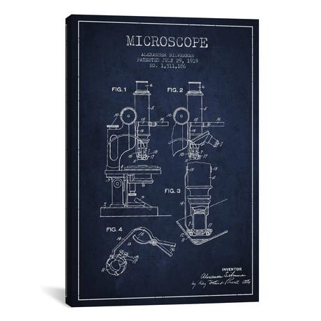 "Microscope II // Navy (18""W x 26""H x 0.75""D)"