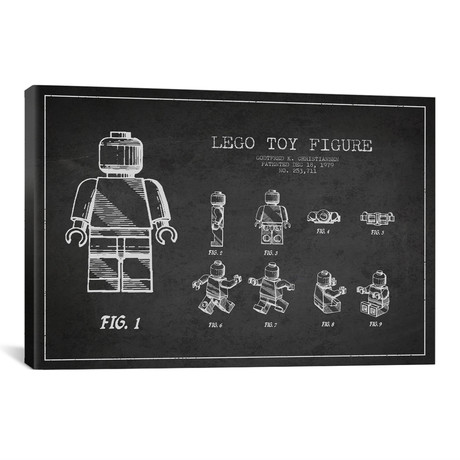 Lego Patent Blueprint // Dark!
