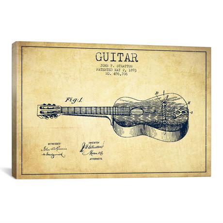 """Guitar // Vintage (18""""W x 26""""H x 0.75""""D)"""