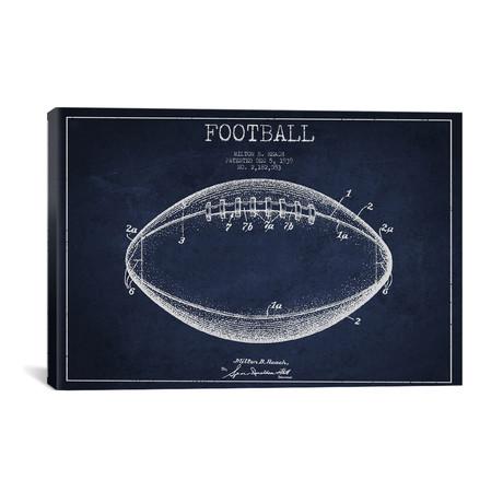 "Football IV // Navy Blue (18""W x 26""H x 0.75""D)"