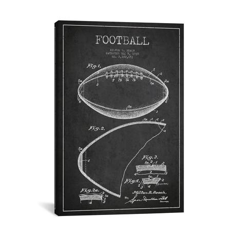 "Football II // Charcoal (18""W x 26""H x 0.75""D)"