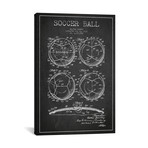 "Bartky Soccer Ball Charcoal Patent Blueprint // Aged Pixel (26""W x 40""H x 1.5""D)"