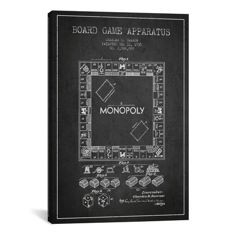 Monopoly Patent Blueprint // Charcoal