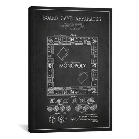 """Monopoly // Charcoal (18""""W x 26""""H x 0.75""""D)"""