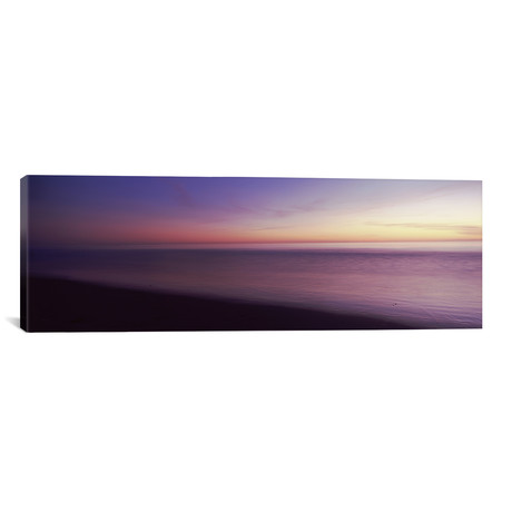 "Ocean At Sunset, Los Angeles County, California, USA // Panoramic Images Canvas Print (36""W x 12""H x 0.75""D)"