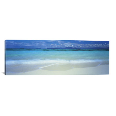 "Clouds Over An Ocean, Great Barrier Reef, Queensland, Australia // Panoramic Images Canvas Print (36""W x 12""H x 0.75""D)"