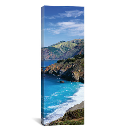 "Coastal Landscape, California // Panoramic Images (20""W x 60""H x 0.75""D)"