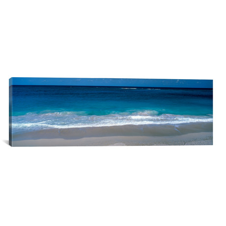 "Waters Edge Barbados Caribbean // Panoramic Images Canvas Print (36""W x 12""H x 0.75""D)"