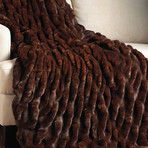 Couture Faux Fur Throw // Mahogany Mink