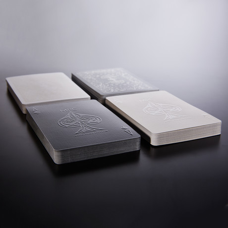 Impressions Playing Cards // Black Stealth + White Phantom