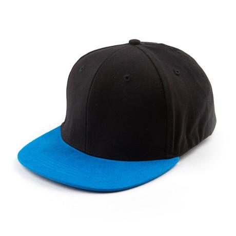 Fits Cap // Black + Azur Blue