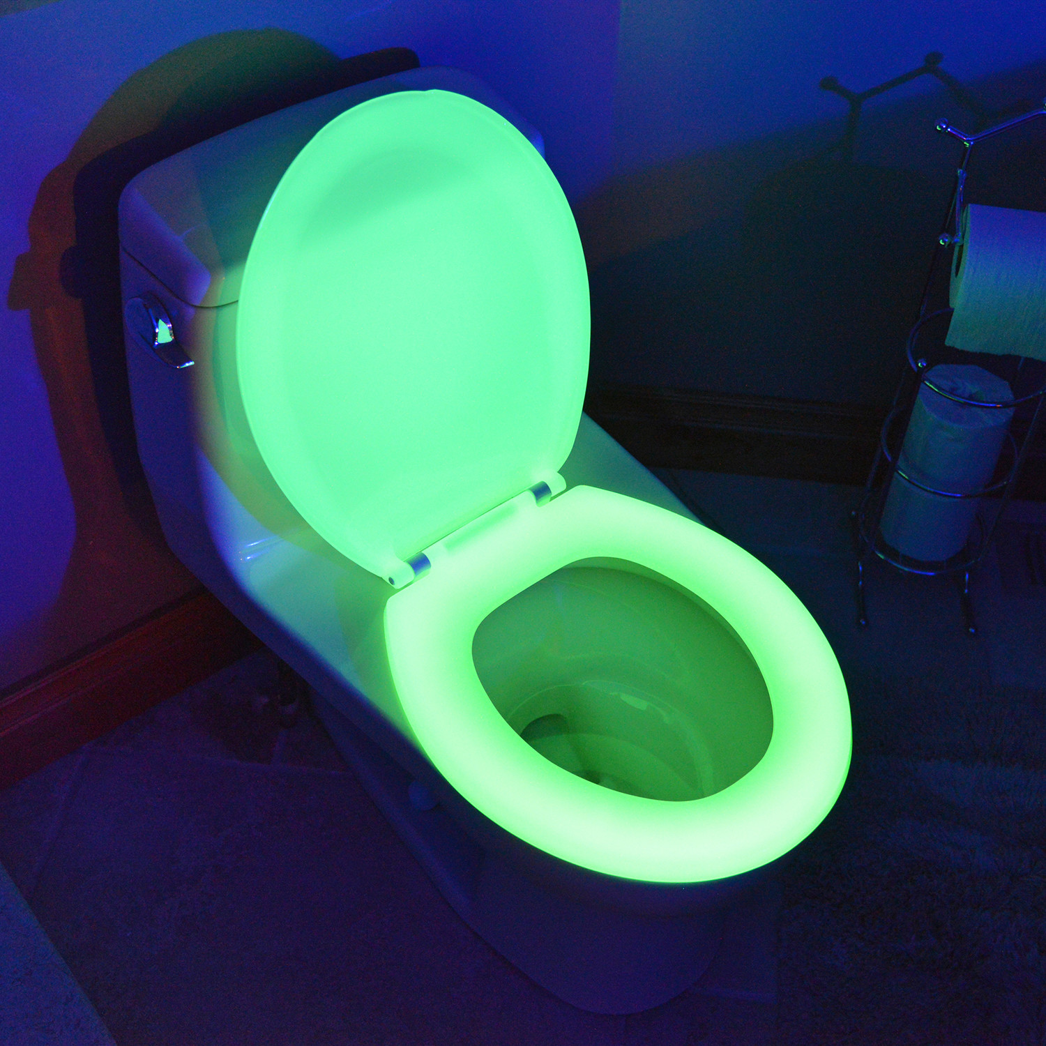 Round Toilet Seat Green Night Glow Seats Touch Of
