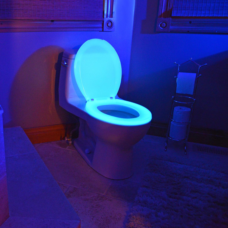 Night Glow Seats Elongated Toilet Seat Blue Night