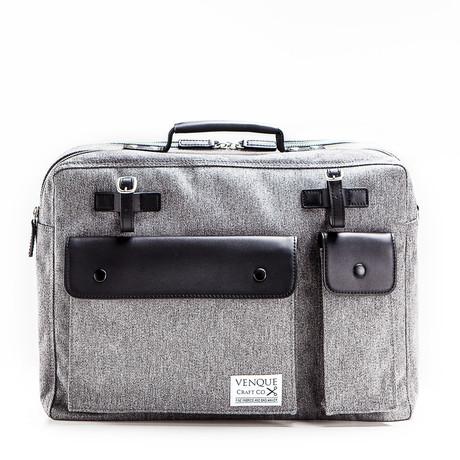 Milano Briefcase // Grey + Black