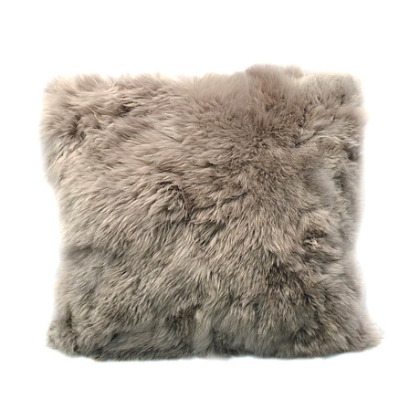 Medium Alpaca Suri Cushion (Ivory)