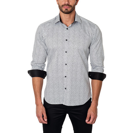 Outside the Lines Dress Shirt // Black + Grey