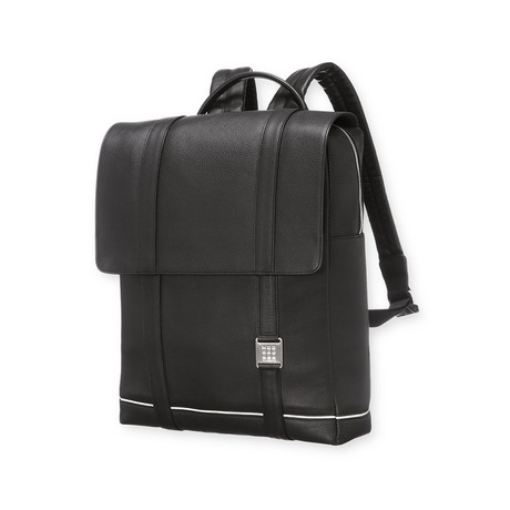 Lineage Leat Backpack // Black