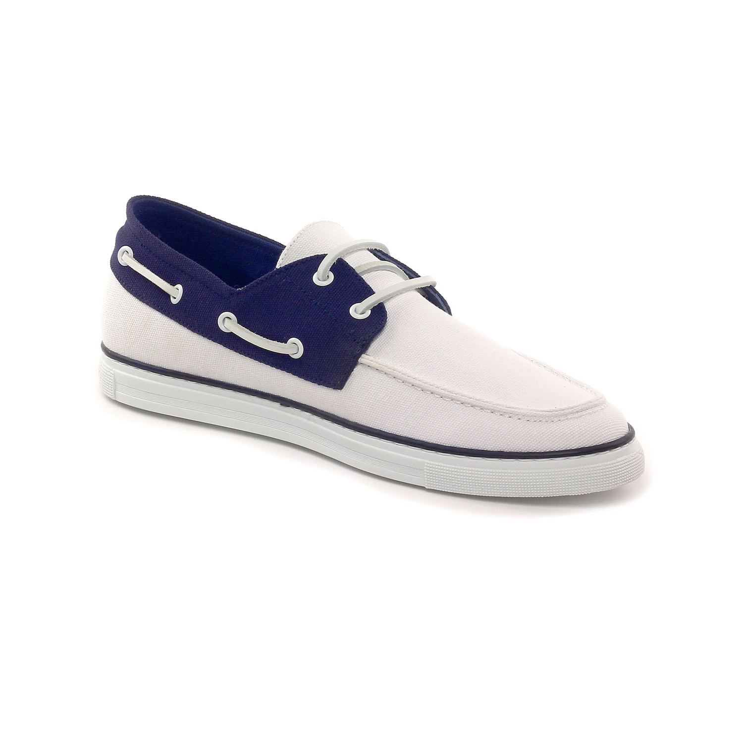 boat shoe white navy 39 rooster league