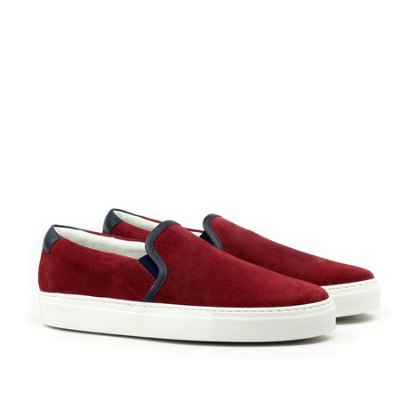 Suede Slip On // Burgundy (Euro: 39)