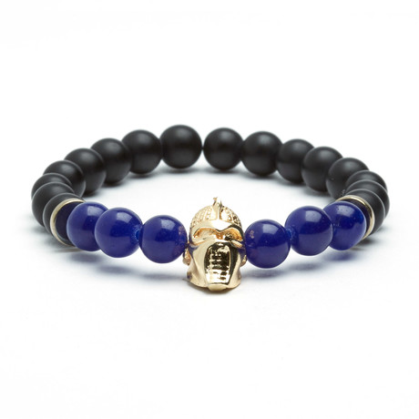 Matte Onyx Darth Vader Bracelet // Black + Navy + Gold