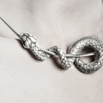 White Serpent Necklace