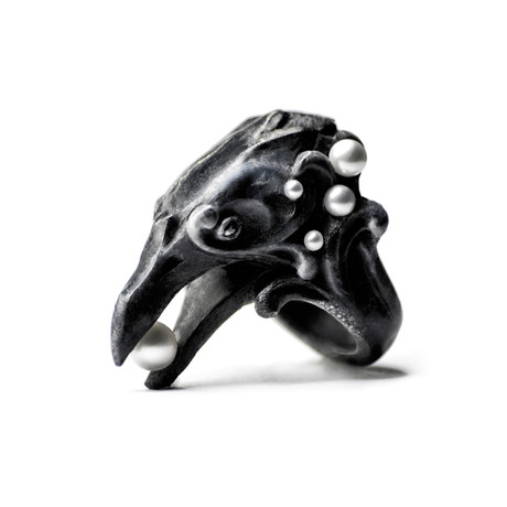 Black Corvus Ring (Size: 5)