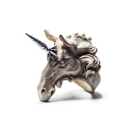 White Licorne Ring (5)