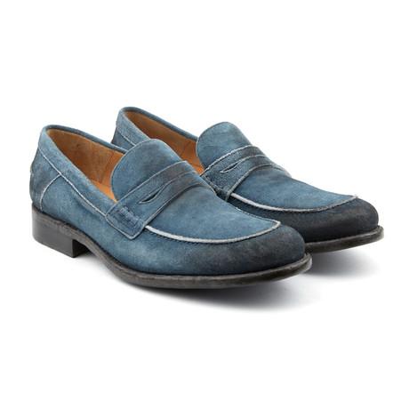 Suede Street Loafer // Blue