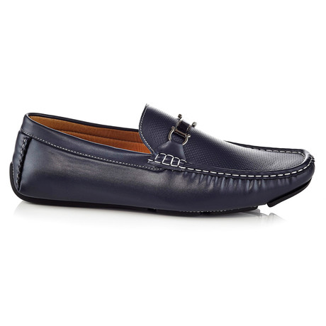 Louis Driving Shoe // Navy