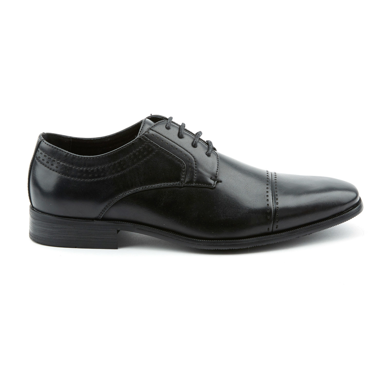 Oxford Black Slip Resistant Shoes With Laces