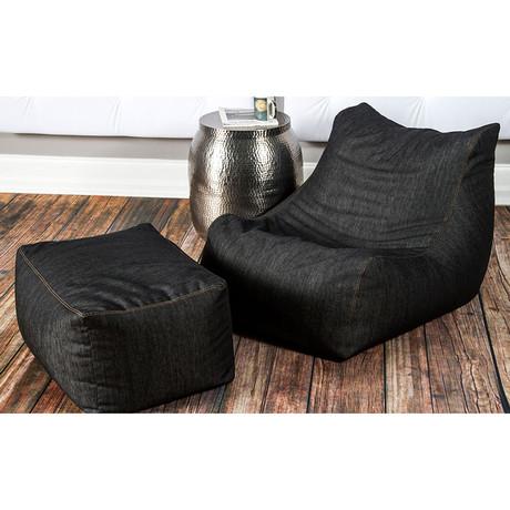 Denim Bean Bag Chair Ottoman Jaxx Denim Touch Of Modern