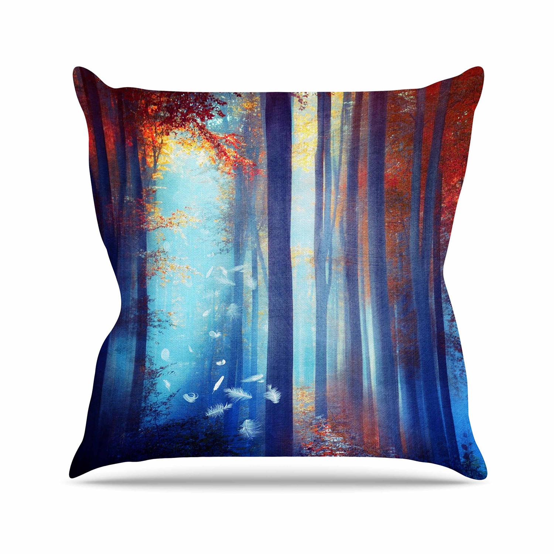 Dreams In Blue Throw Pillow (16