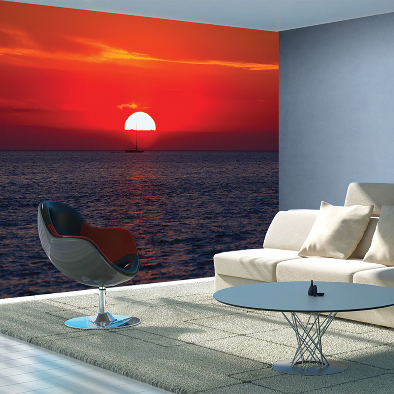 Red Sunset 1 Wall Murals Touch Of Modern