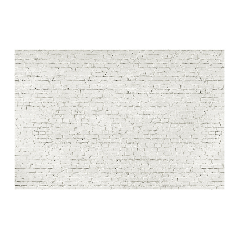 Distressed White Brick