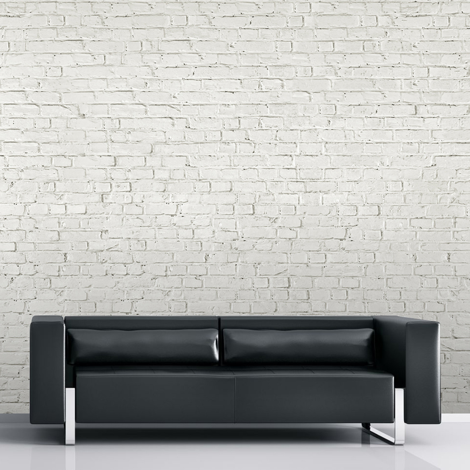Distressed white brick 1 wall murals touch of modern for Distressed brick wall mural