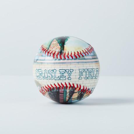 Crosley Field (Baseball + Display Case)