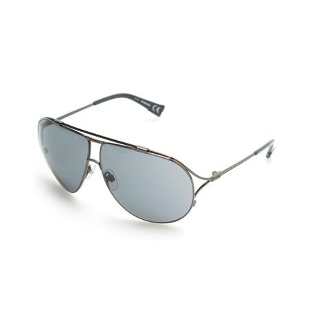 Danny Sunglasses // Silver + Blue Lens