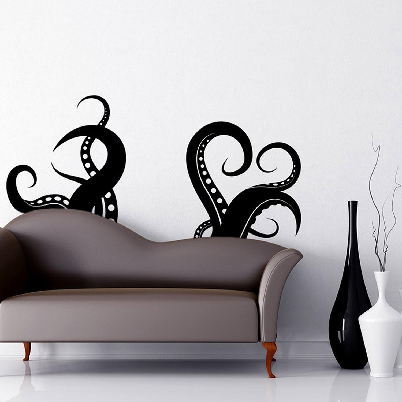 "Octopus Tentacles // Black (100""W x 46""H)"