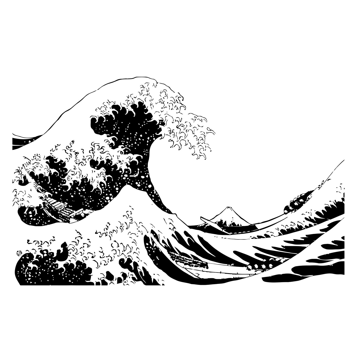 Japanese Great Hokusai Wave 104 Quot W X 65 Quot H Stickerbrand