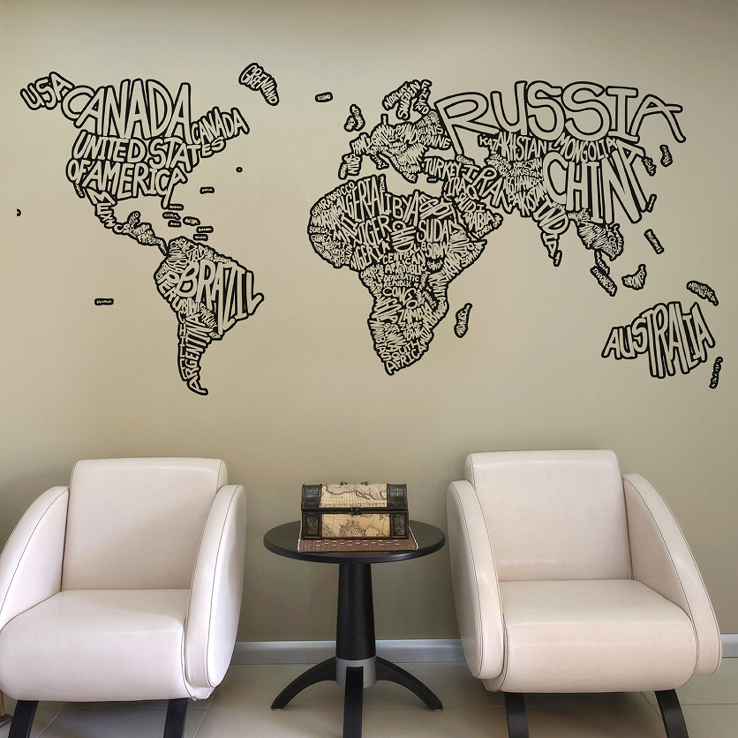 Country name world map 72w x 34h stickerbrand touch of modern country name world map 72w x gumiabroncs Images