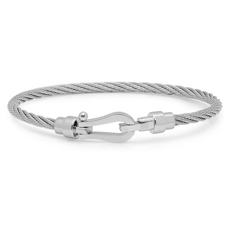 Wire Bracelet // Silver
