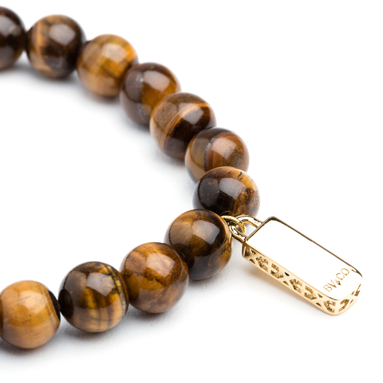 grand tiger eye bracelet gold bv co touch of modern