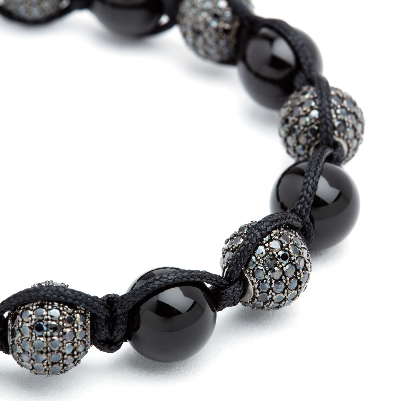 agate shamballa bracelet black bv co touch of modern