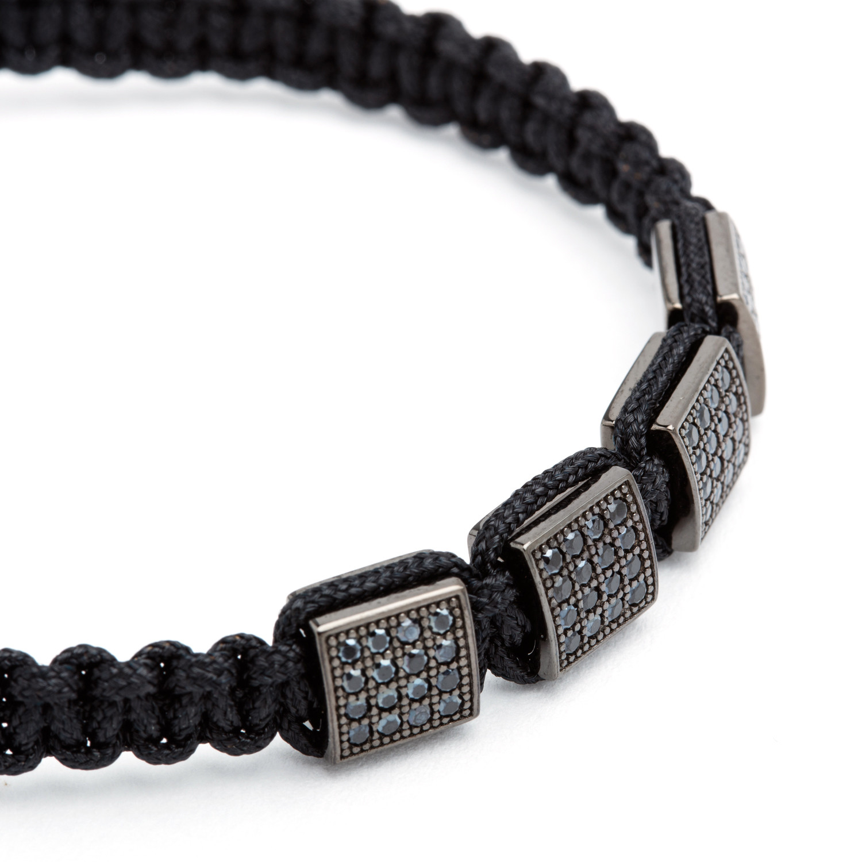 square shamballa bracelet black bv co touch of