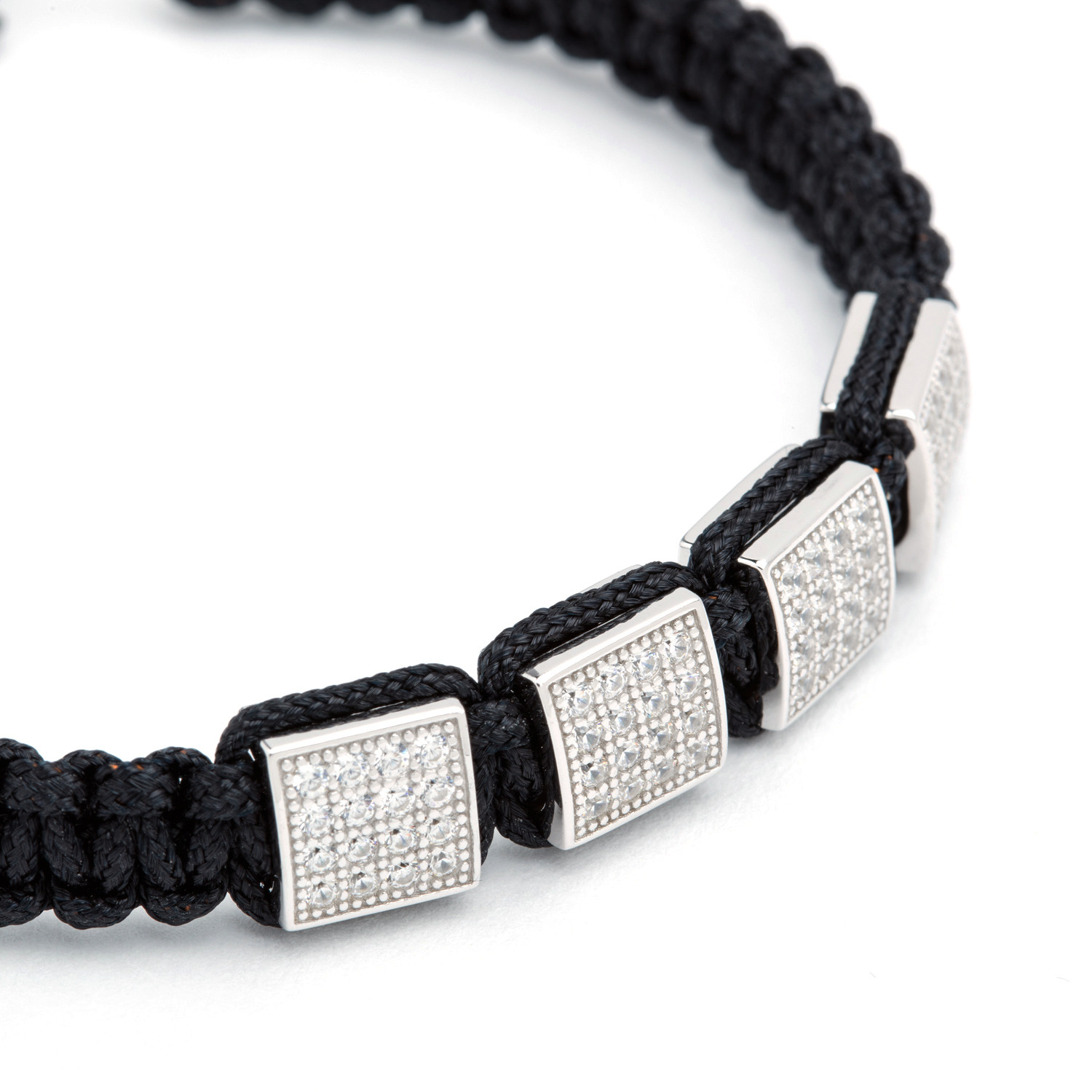 square shamballa bracelet silver bv co touch of