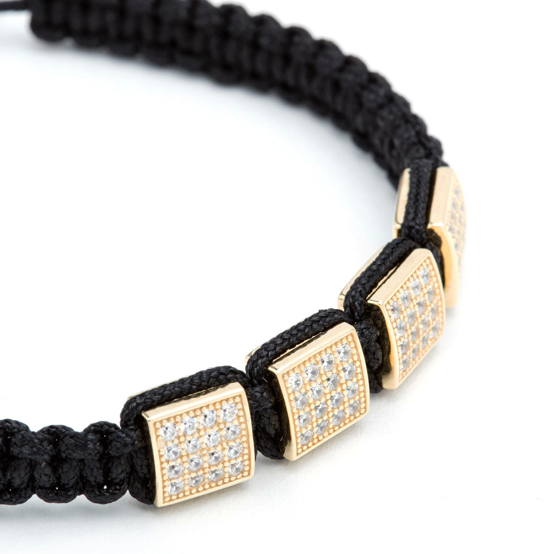 square shamballa bracelet gold bv co touch of modern