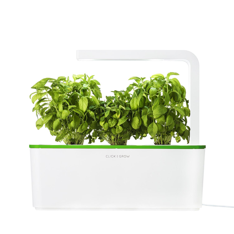 Smart herb garden starter kit green click grow for Indoor gardening kit green toys