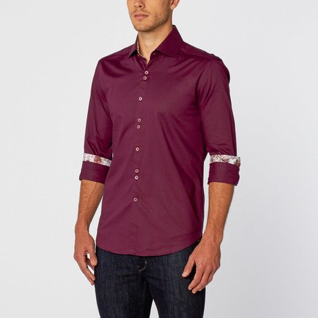 Stone Rose // Classic Button-Up // Purple